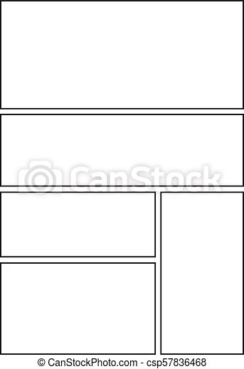 Comic With Five Grid Layout Manga Storyboard Layout Clip Art