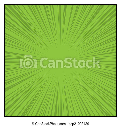 Comics Color Radial Speed Lines graphic effects. Vector - csp21023439