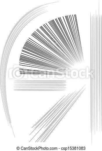 Comics Manga Action Speed Lines - csp15381083