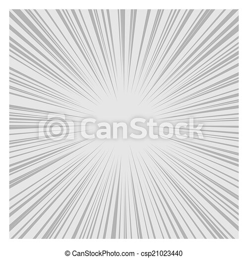 Comics Radial Speed Lines graphic effects. Vector - csp21023440