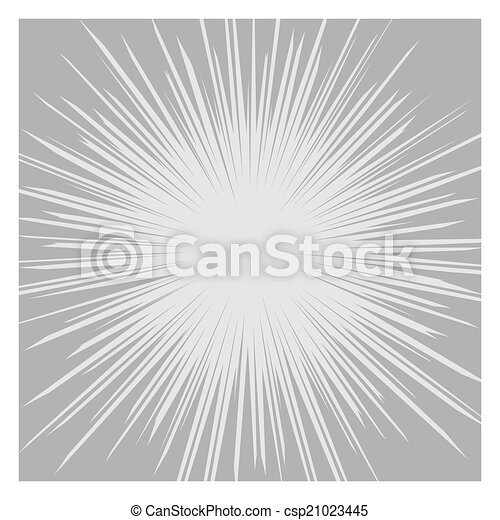 Comics Radial Speed Lines graphic effects. Vector - csp21023445