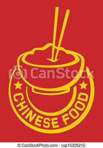 comida chinês, etiqueta - csp15325215