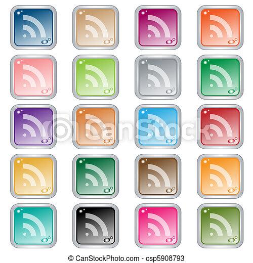 Botones de redes de la RSS - csp5908793
