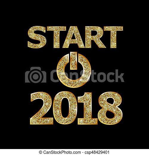 Comienza año nuevo 2018 - csp48429401