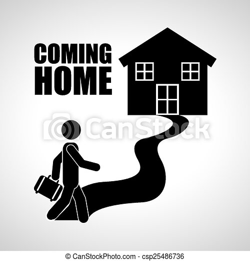 Coming home design, vector illustration eps10 graphic .