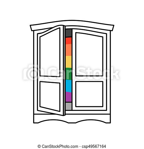 coming out wardrobe lgbt symbol open closet door get out clip rh canstockphoto com closet clipart free clothes closet clipart