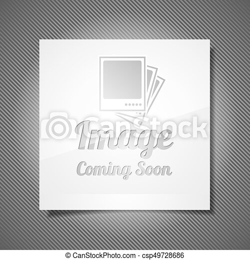 Coming Soon Illustration With Abstract Picture Frame On Grey