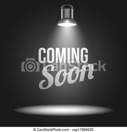 Coming soon message illuminated with light projector - csp17666635