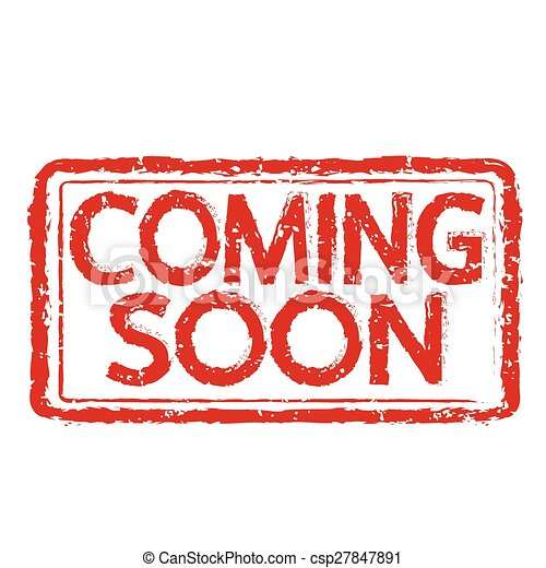 COMING SOON stamp text Illustration - csp27847891