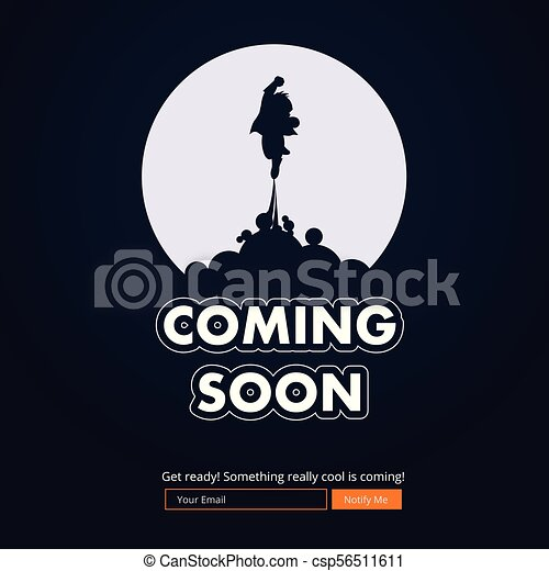 Coming soon website template. coming soon landing page design ...
