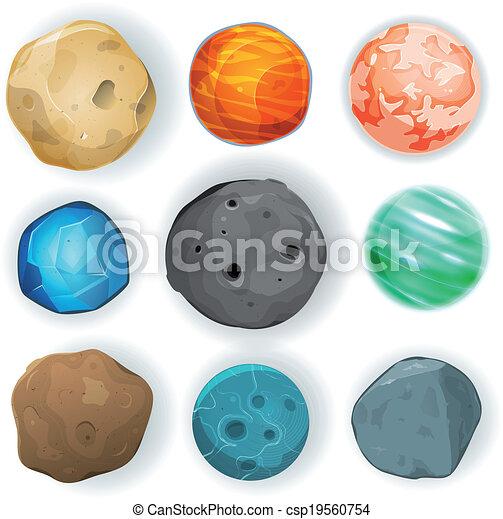 comique, ensemble, planètes - csp19560754