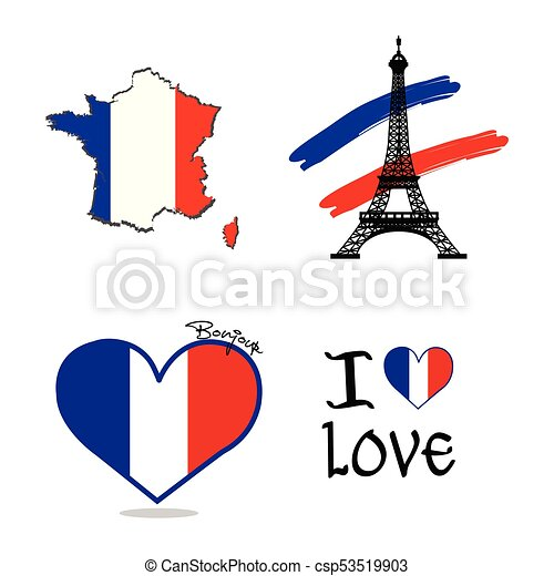 commemorative france symbol abstract france commemorative vector rh canstockphoto ca French Flower Symbol Royal Symbols