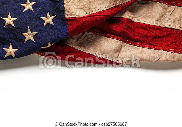 commemorativo, vecchio, bandiera, giorno, americano, 4, fondo, luglio, o - csp27565687