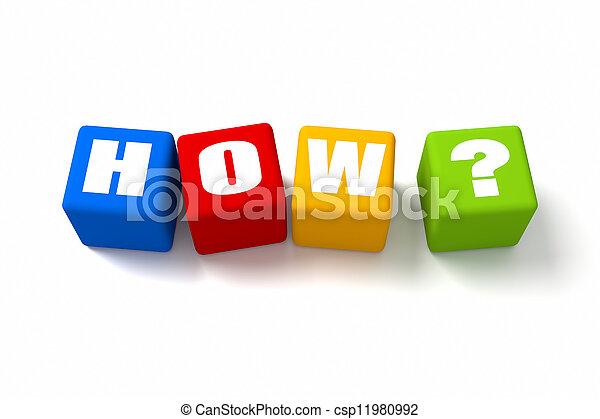 comment, coloré - csp11980992