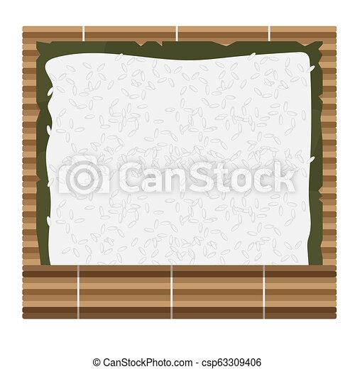 comment, faire, sushi, rouleaux, maison - csp63309406