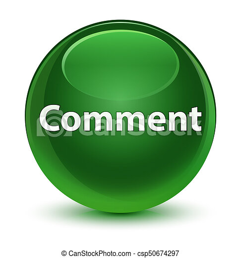 Comment glassy soft green round button - csp50674297