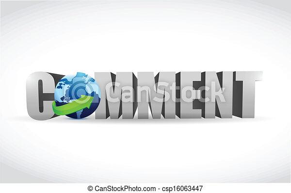 comment text illustration design - csp16063447