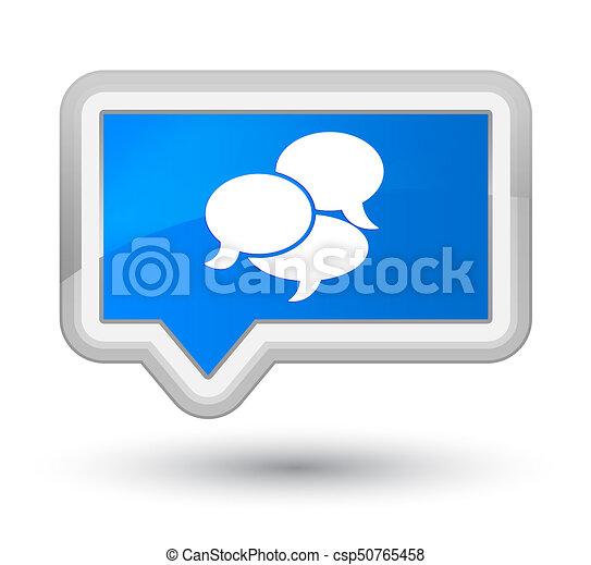 Comments icon prime cyan blue banner button - csp50765458