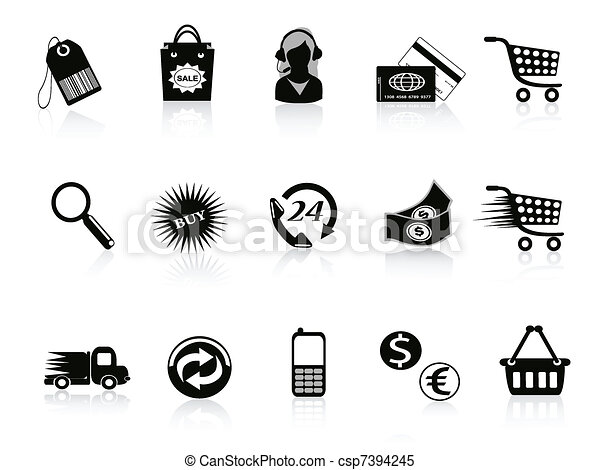 Commerce and retail icons set - csp7394245