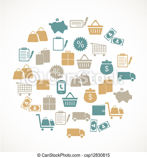 Commerce and retail icons - csp12830815