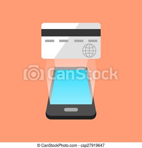 commerce, smartphone, concept., isométrique, design. - csp27919647