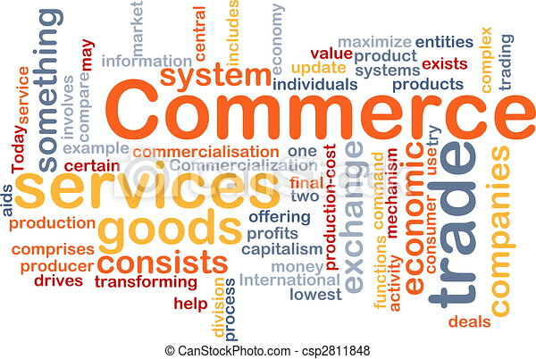 Commerce word cloud - csp2811848