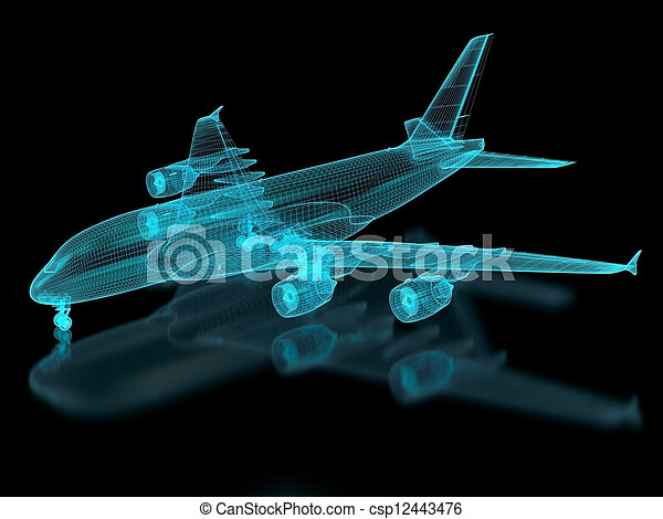 Commercial Aircraft Mesh - csp12443476