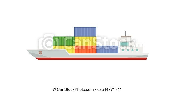 commercial container ship with containers - csp44771741