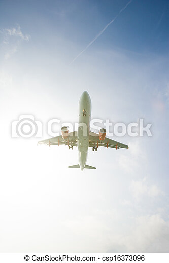 commercial jet airplane - csp16373096