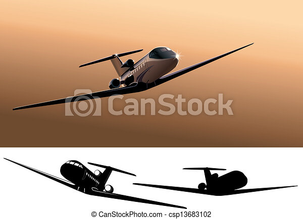 commercial jet - csp13683102