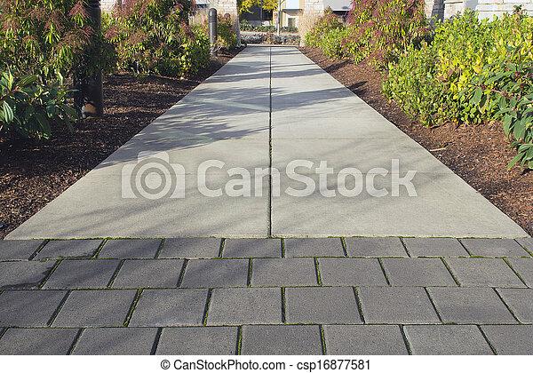 Commercial Outdoor Sidewalk Landscaping - csp16877581