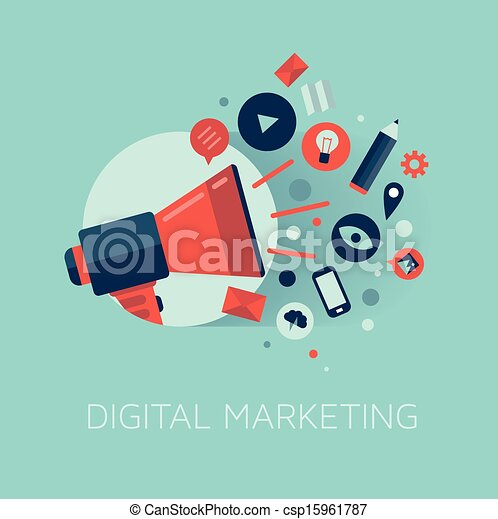 commercialisation, concept, illustration, numérique - csp15961787