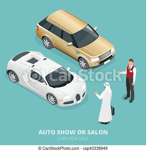 Commercially colourful cars stand in car shop. cars for... eps ...