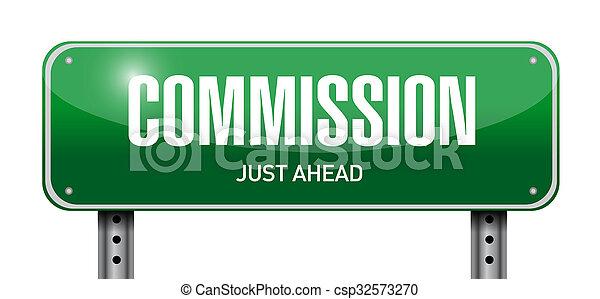 commissie, ontwerp, straat, illustratie, meldingsbord - csp32573270