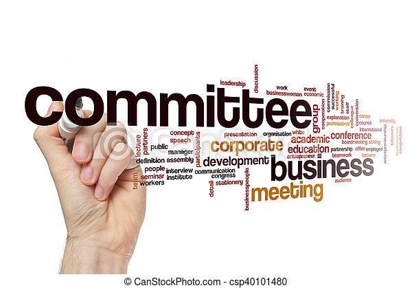 Committee word cloud concept - csp40101480