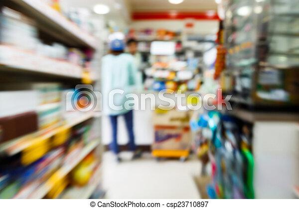 commodité, flou, magasin - csp23710897
