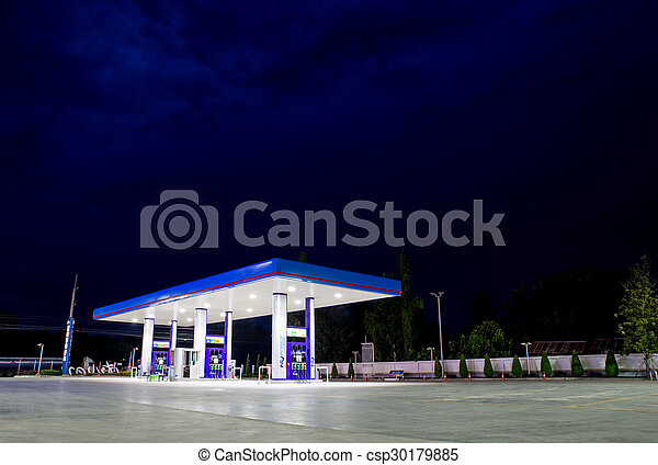 commodité, station, essence, magasin, vente au détail - csp30179885