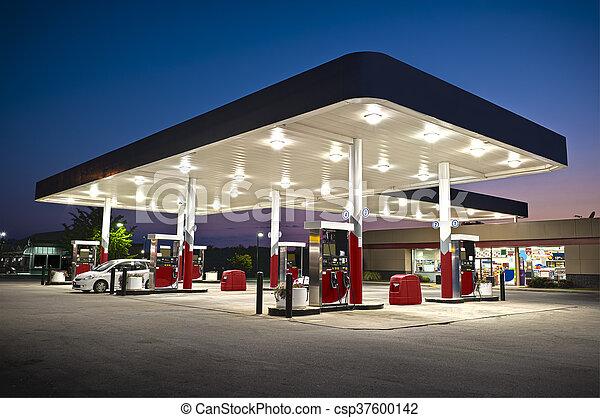commodité, station, essence, séduisant - csp37600142