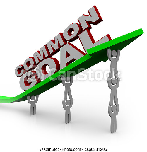 Common Goal - Team of People Lift Growth Arrow - csp6331206