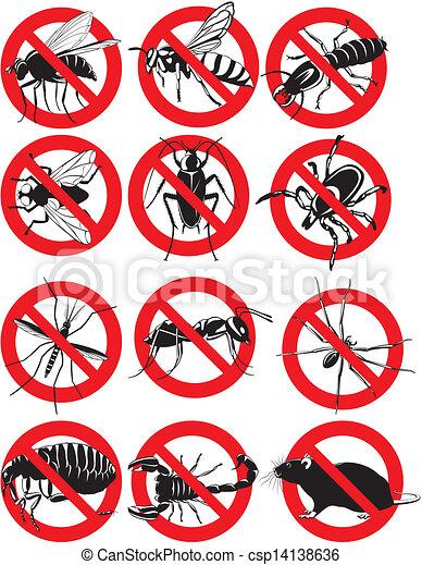 common household pest icon - csp14138636