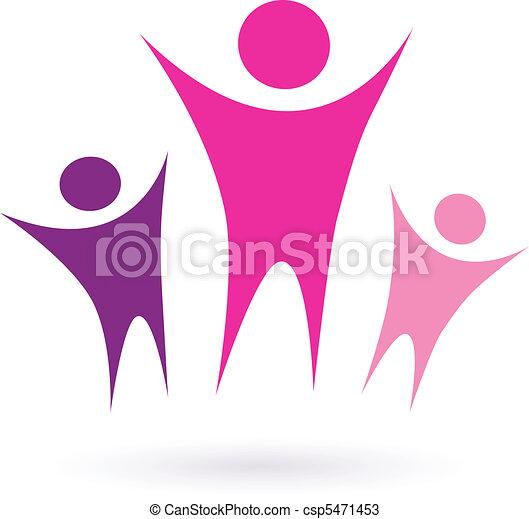 communauté, /, femmes, icône, groupe - csp5471453