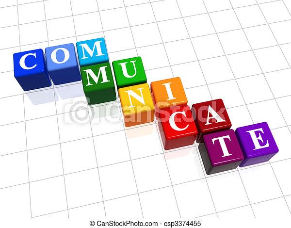 communicate in colour - csp3374455