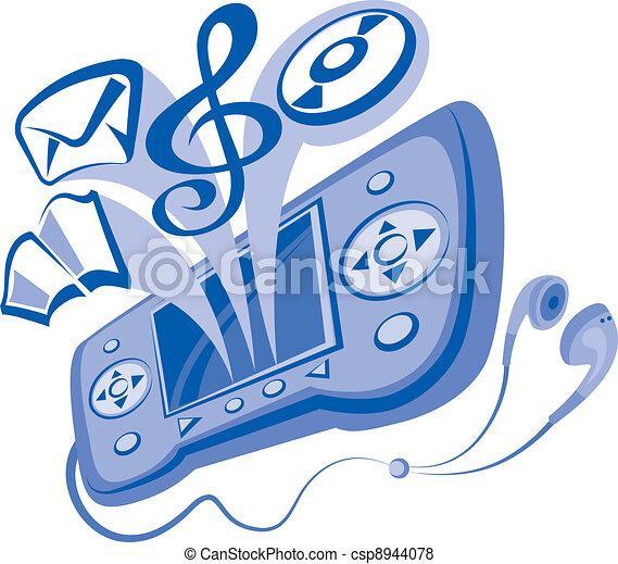 communicateur, smartphone - csp8944078