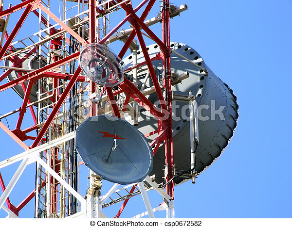 communicatie, antenne - csp0672582