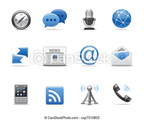 communicatie, iconen - csp7310803