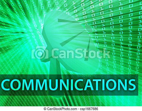 communicatie, illustratie - csp1667686