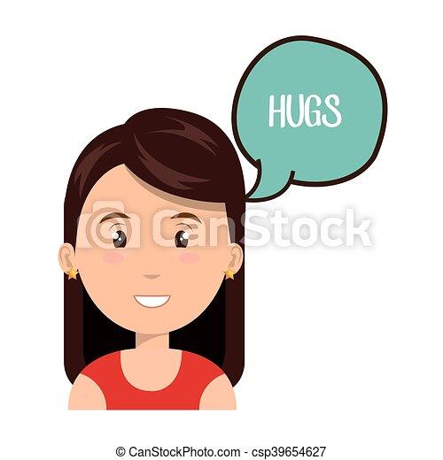 communicatie, mensen, toespraak, klesten - csp39654627