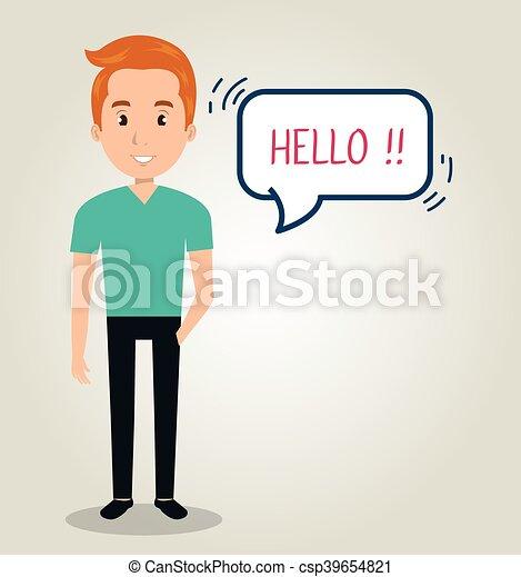 communicatie, mensen, toespraak, klesten - csp39654821