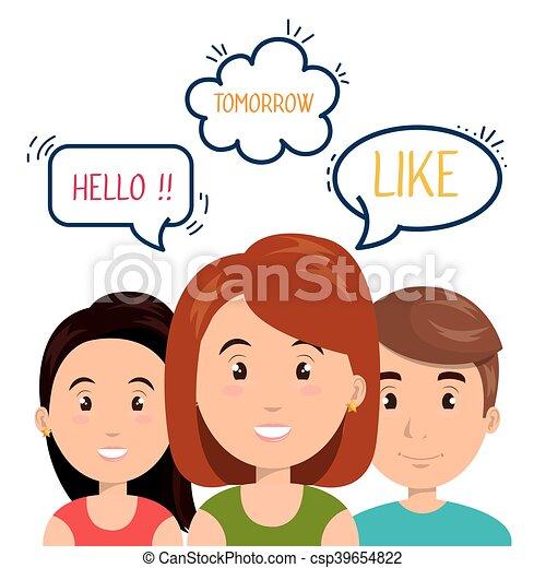 communicatie, mensen, toespraak, klesten - csp39654822