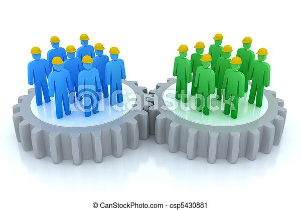 communicatie, werken, handel speelt samen - csp5430881
